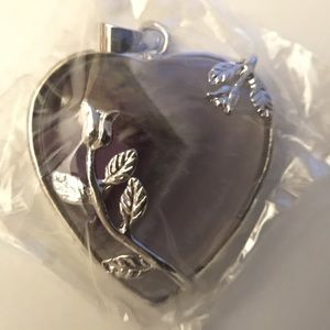 Jewelry - Amethyst heart pendant, new